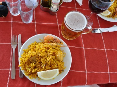 Paella in Nerja, Spain