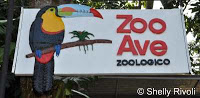 Sign at entrance to Zoo Ave in Alajuela, Costa Rica