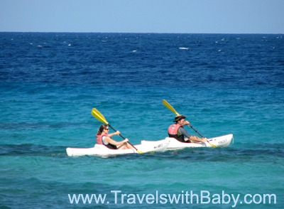 Mom and Dad in sea kayak, Jamaica: Amazing how a little time together without the kids can help get you back in synch with your partner