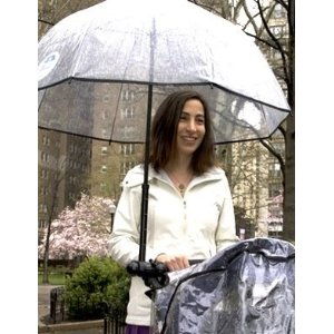 The hands-free umbrella for strollers and wheel chairs
