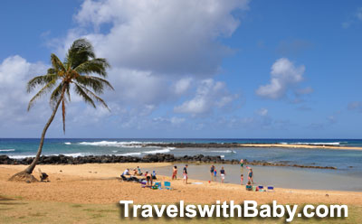 Baby-friendly cove at Poipu Beach Park, Kauai