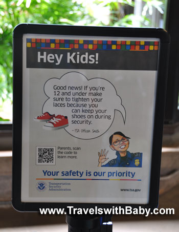 Kids can now keep their shoes on as they pass through airport security in the U.S.