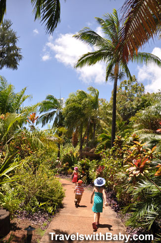 Entering into the National Tropical Botanical Garden near Poipu