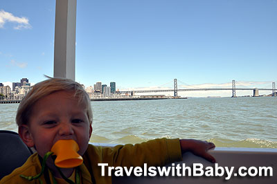My little duckling, cruising the Bay on San Francisco's Ride the Ducks.