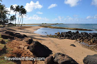 The beach at Salt Pond Park, Kauai, in the early morning