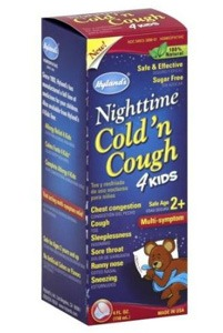 Hyland's homeopathic nighttime cold 'n cough for kids 2 years and older