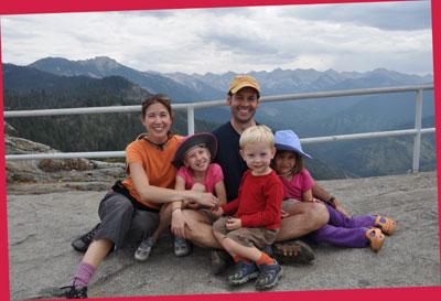 Rivoli family atop Moro Rock at Sequoia National Park