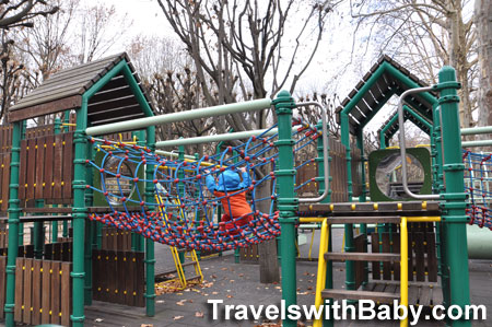 play structure at Parc de Jeux