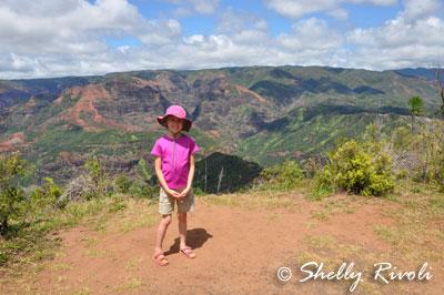 On the Iliau Nature Loop Trail, a short hike with kids at Waimeia Canyon.