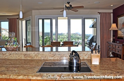 A cooktop with a view at Wailea Beach Villas, Maui.