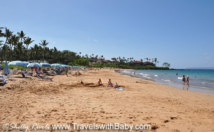 Plenty of sand, gentle surf, and less beach traffic at this end of Wailea Beach.
