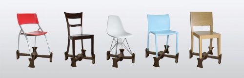 Spring tension makes it quick and easy to add Kaboost to most any chair.