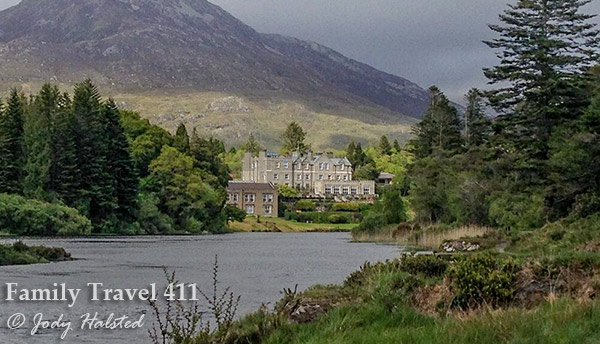 Kids will love to sleep like a king in this castle nestled in the Twelve Bens Mountains of County Galway, Ireland.
